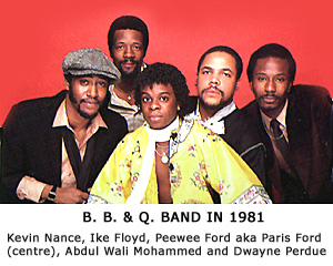 B. B. & Q. band in 1981